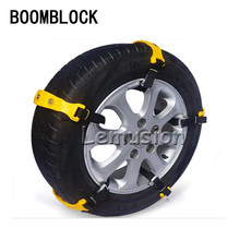 BOOMBLOCK 10X Rotella di Automobile Della Gomma Anti-skid Catene Per Volkswagen VW Polo Passat B5 B6 CC Golf 4 5 6 7 Touran T5 Tiguan Bora Scirocco(China)