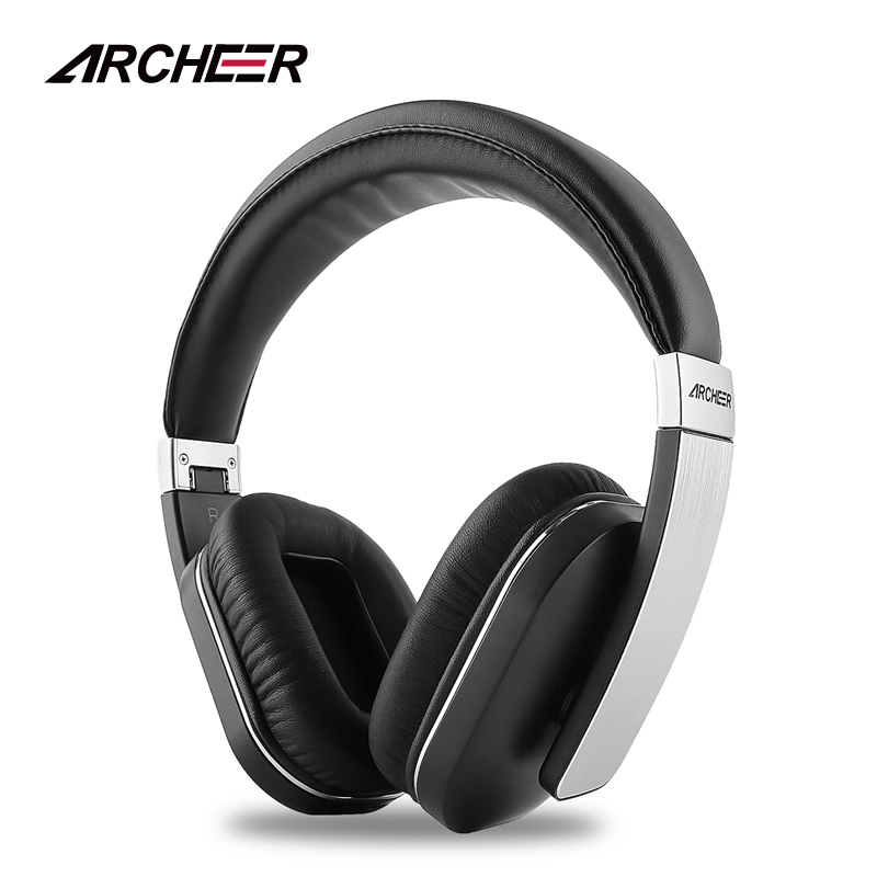 ARCHEER AH07 NFC Wireless Bluetooth Headphone Foldable Stereo Headphones Soft Ear Cups Adjustable Headset With Mic Support Apt-x kz lp5 bluetooth earphone apt x wireless headphone wired bass headset portable foldable headphones 1 2m cable
