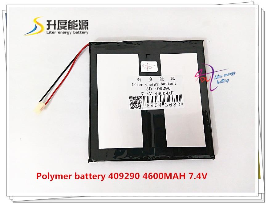 7,4 V 4600 Mah 409290 Polymer Lithium-ion/li-ion Batterie Für Tablet Pc Gps Mp4 Mp3 Handy Lautsprecher Tablet-zubehör