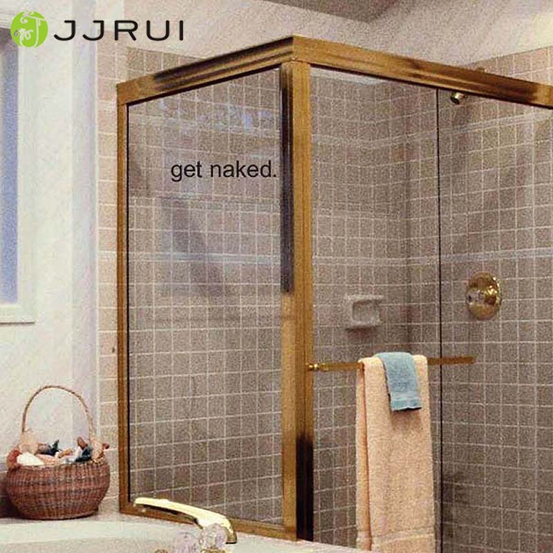 jjrui desnudarse vidrio ducha de pared de vinilo pegatinas bao home art decor color