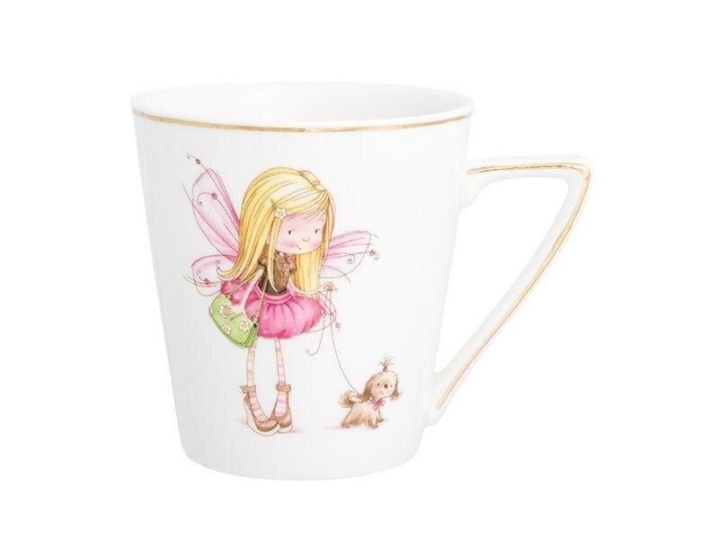 Фото - Mug Elan Gallery, Girl-fairy with dog in pink, 190 ml women handbags 2018 new fashion summer chain ladies hand bags cartoon girl printed female crossbody pink casual tote k059