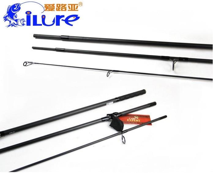 ФОТО Brand New 99.9% carbon Carp Fishing Rod 3.6m 3.9m MH Spinning fishing rod 3 sections fishing carp rod  3.0 lb