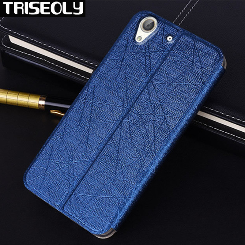 TRISEOLY Case For HUAWEI Y6II Y6 II 2 Simple Luxury Flip PU Leather Back Cover For Huawei Y6 II Honor 5A 5.5INCH