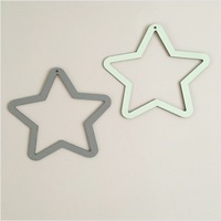Cute Nordic Star Wall Sticker Wall Hanging Wooden Decal Art Decorative Baby Kids Room Decoration
