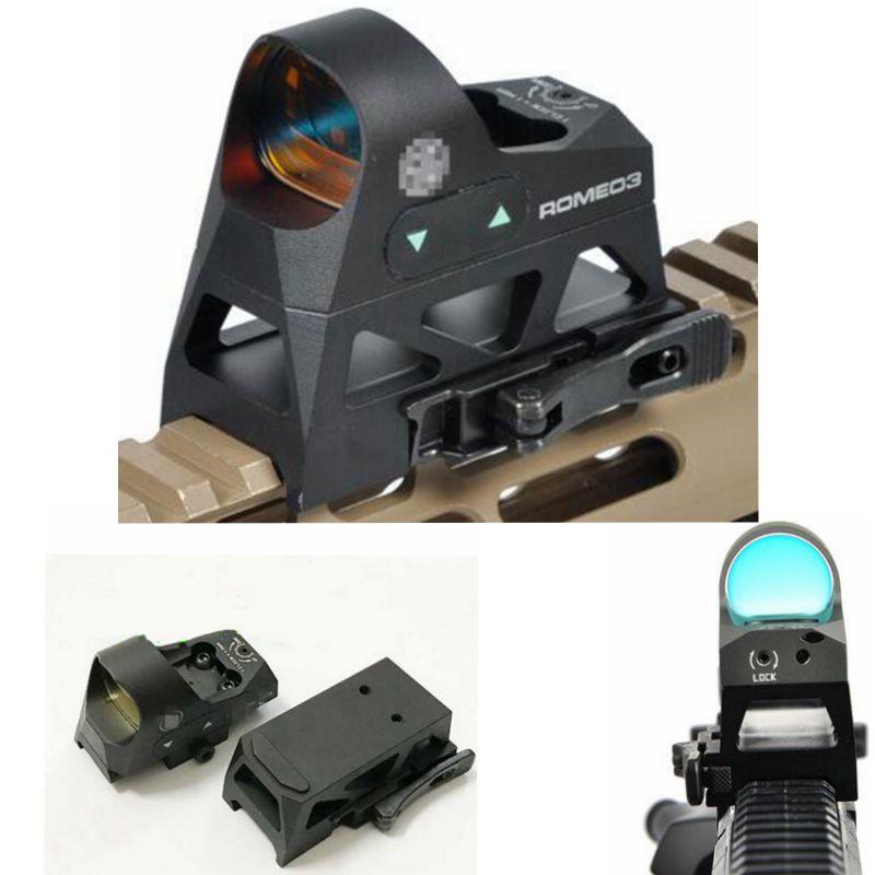 Tactical 3 MOA Reflex Sight Mini Red Dot Sight 1x25 Reticle Red Dot Scope With QD Mount Hunting Scopes For 20mm Rail Base utg 4 2 ita red green cqb dot sight scope tactical with qd mount riser adaptor scp ds3840w hunting equipment