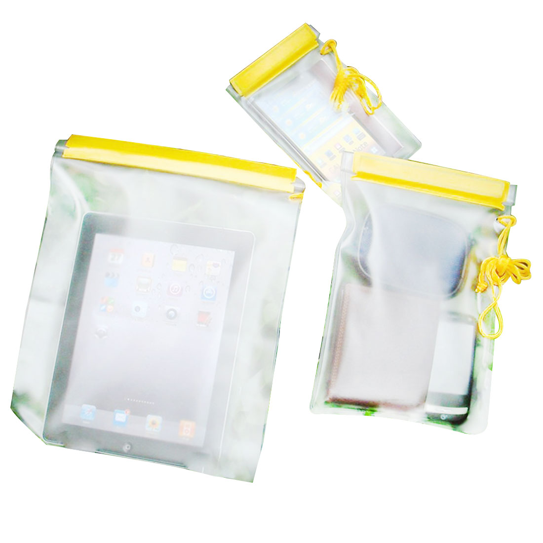 3Pcs Waterproof Dry Bag Outdoor Clear Case Canoe Floating Boating Kayaking Camping Water-Resistant Bags For Phone Pouch
