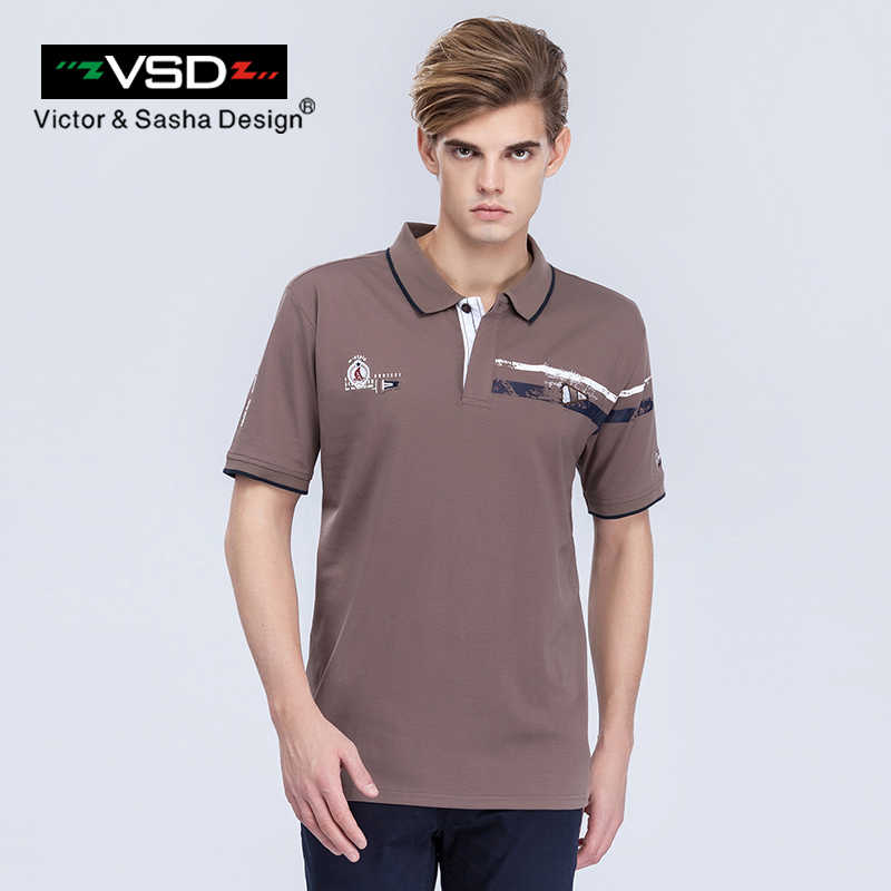 Vsd 2017 novo verão tamanho grande algodão camisas polo homem de manga curta respirável famosa marca impressão polos homme y680