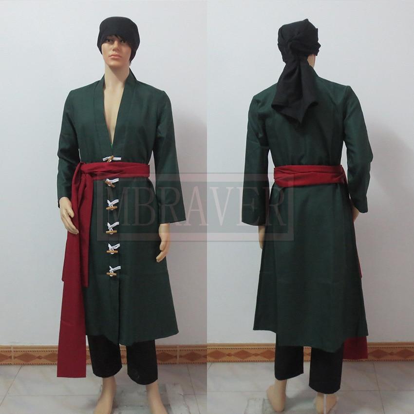 One Piece Roronoa Zoro cosplay costume Custom Made Any Size