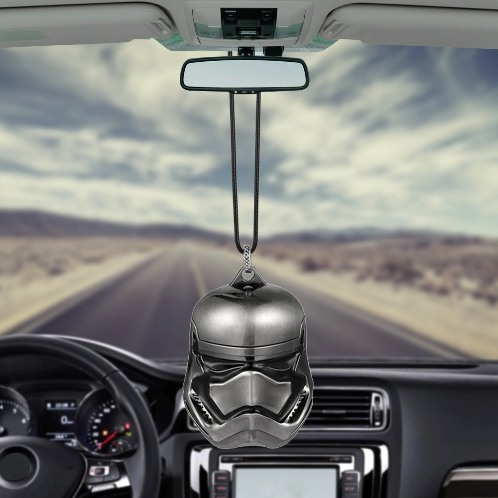 Car Pendant Metal Suspension Trim For Star Wars Darth Vader StormTrooper Charms Automotive Rear View Mirror Decoration Ornaments