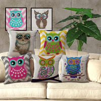 Free Shipping Wholesale 100% New Mianma Pastoral Owl Eyes Cushion Pillow on sofa for home decoration