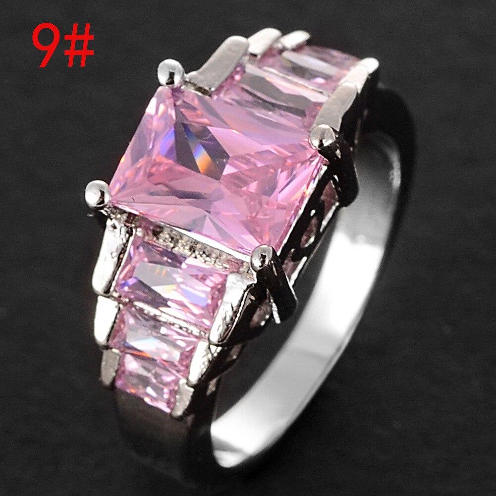 Fashion Luxury finger ring lady paved zircon Princess women Wedding ...