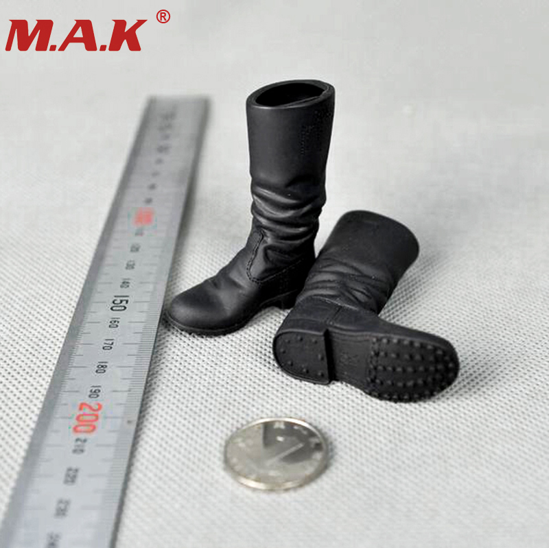 1/6 Scale WWII Combat Black Long Boots Model for 12 inches Male Action Figures Dolls Accessories 1 6 scale rifle gun model for 12 inches action figure accessories collections x80028 m700pss x80026 psg1