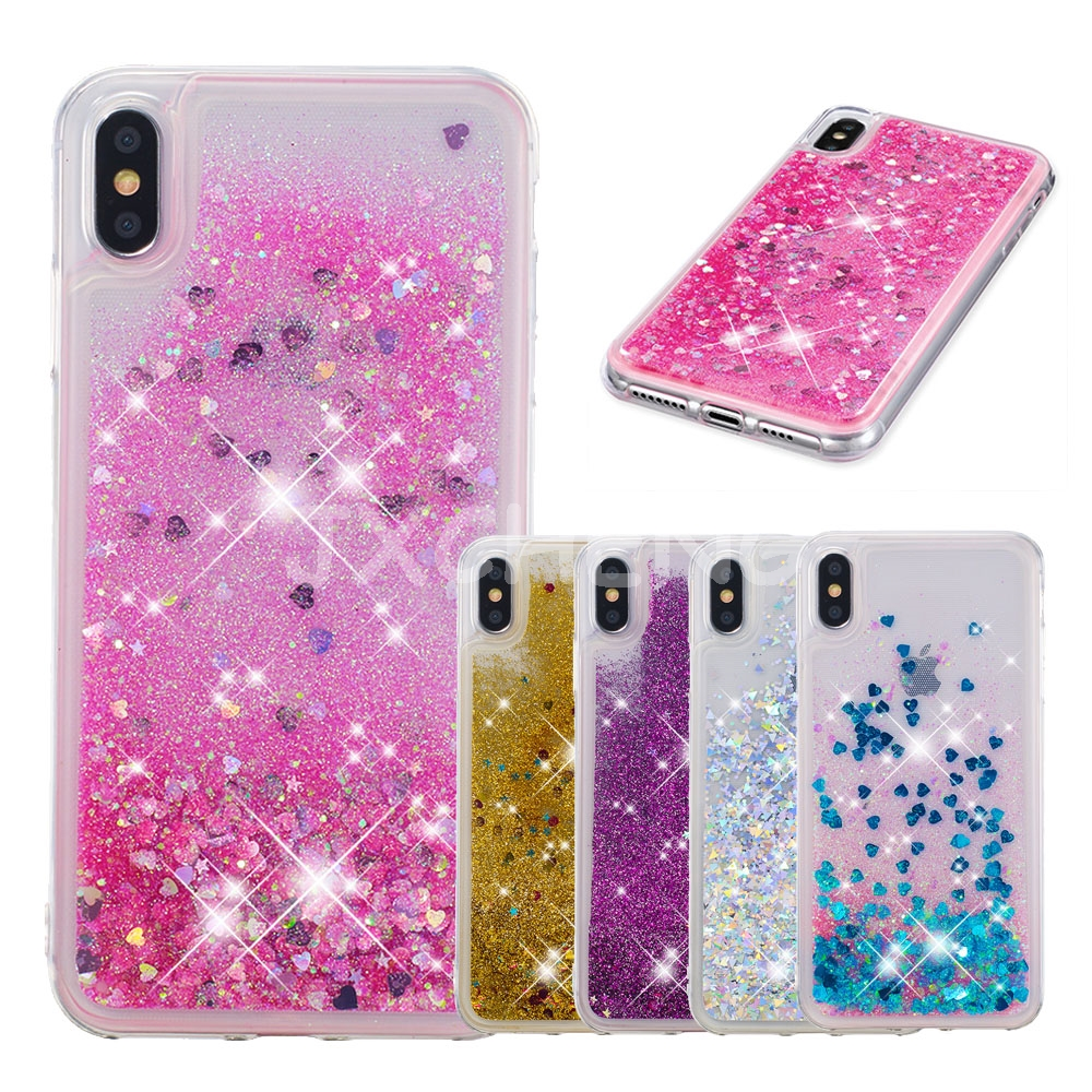 Genteel Sparkle Quicksand Glitter Stars Flowing Water Liquid Case For Iphone X/xs/xr/xs Max Clear Soft Silicone Tpu Cover Phone Cases Clothes, Shoes & Accessories