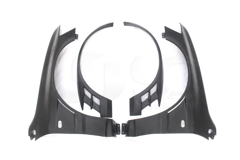 2001-2007 Mitsubishi Lancer Evolution 7-9 Voltex Cyber Version Style +20mm Front Fender with Flare FRP (5)