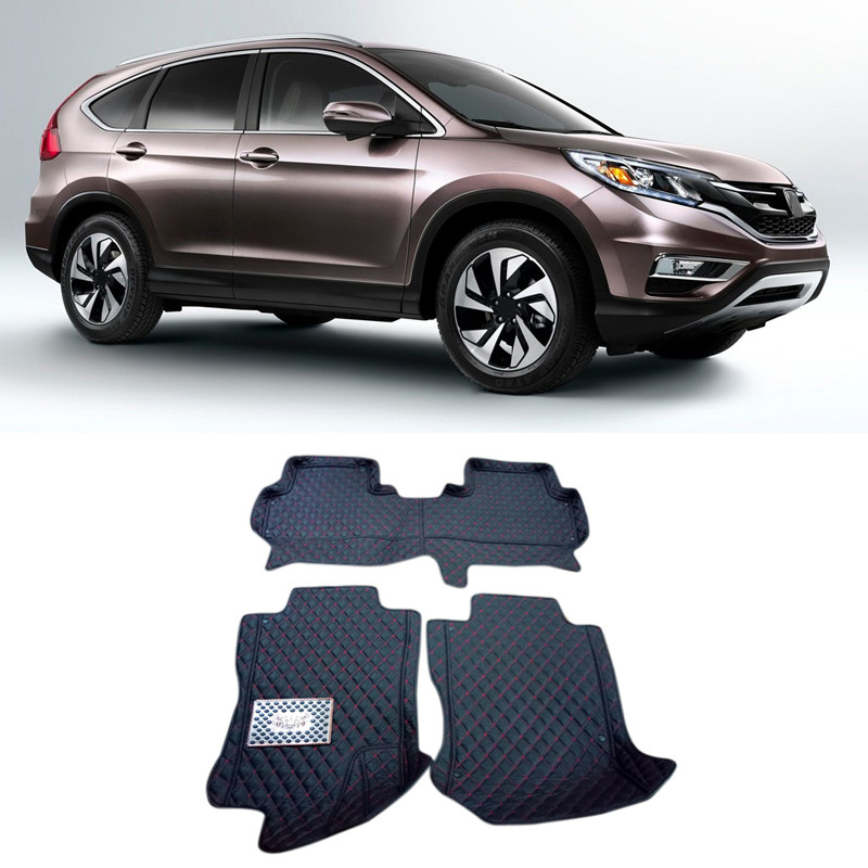Car Styling Accessories Floor Mats Carpets Cover Pads For Honda CRV CR-V 2012-2016 auto floor mats for honda cr v crv 2007 2011 foot carpets step mat high quality brand new embroidery leather mats