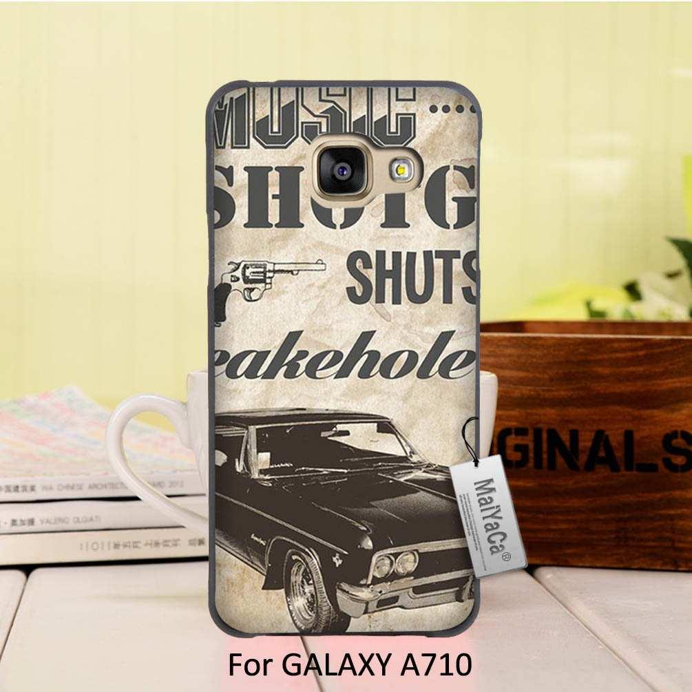 MaiYaCa Black cover <font><b>phone</b></font> <font><b>case</b></font> For Samsung Galaxy A7 2016 <font><b>case</b></font> <font><b>Supernatural</b></font> Impala Poster driver truck music