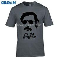 GILDAN Customised T Shirts New Men T Shirts Pablo Escobar Digital Printing 100 180gsm Combed Cotton
