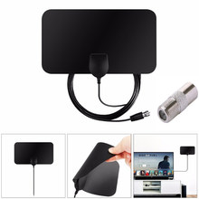 Free TV Fox HD Digital DTV Indoor TV Antenna TVFox HDTV Antena DVB-T DVB-T2 VHF UHF ISDB ATSC DVB Signal Receiver TV Aerial(China)