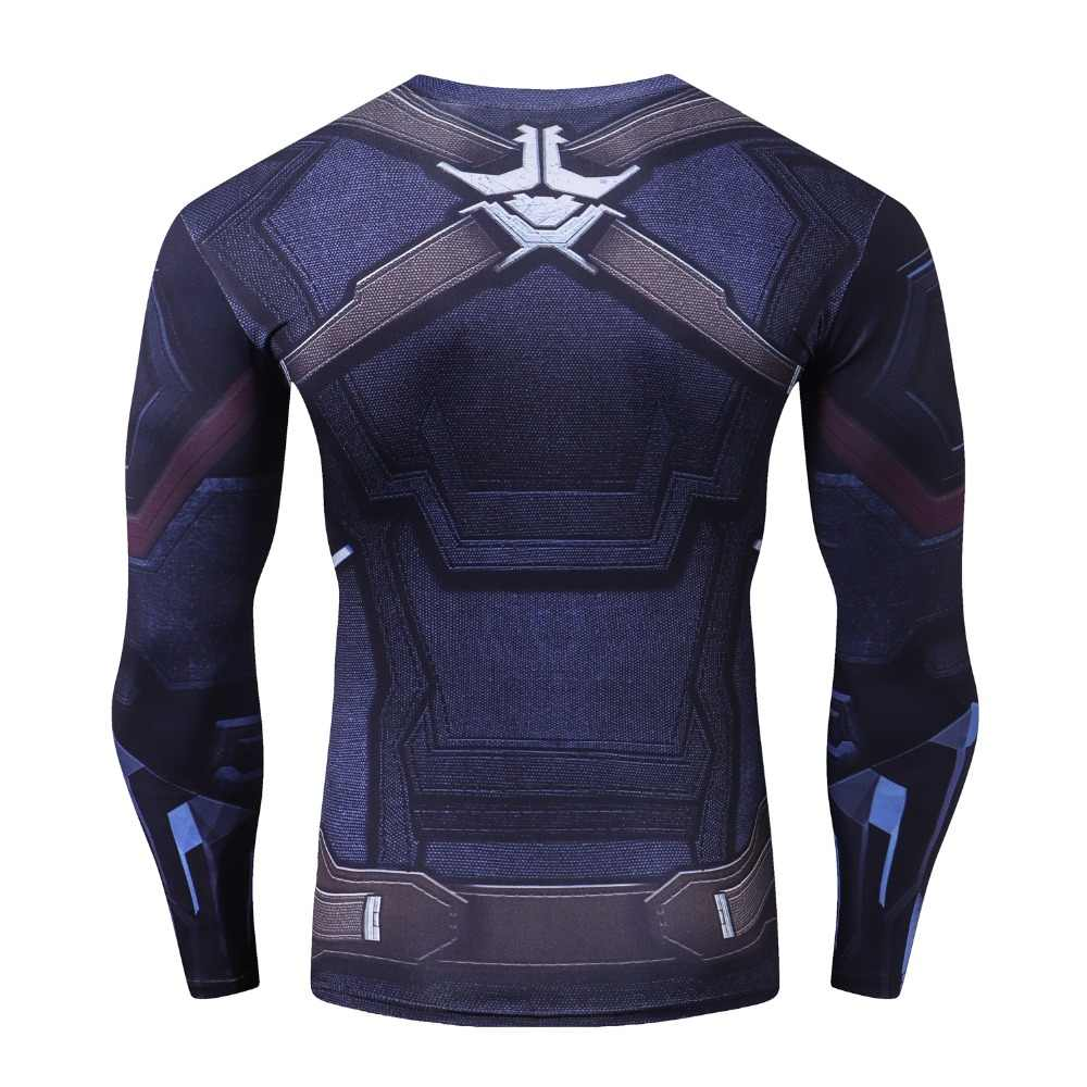 Рукав реглан черная пантера сжатия рубашки 3D футболки с принтом Для мужчин 2018 Мстители комиксов топы для мужской бодибилдинг одежда