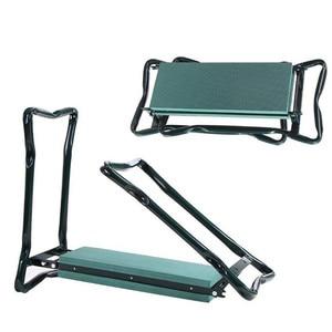 Image 4 - 1 Набор садовых сидений Складной садовый стул из нержавеющей стали с сумкой для инструментов EVA коврик на колени