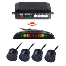 pz312 car auto parktronic parking sensor system with 4 sensors reversing car parking radar monitor detector led display DC12V Universal Wireless Car Parking Rear Reverse 4 Sensors Buzzer Radar LED Display Audio Alarm Car Detector