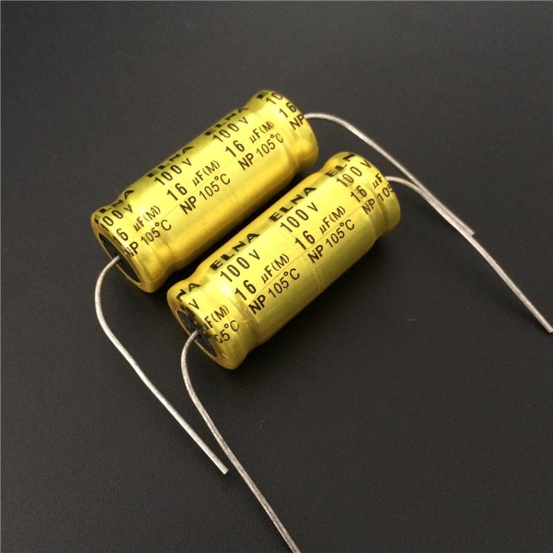 50pcs 16uF 100V ELNA NP 12.5x30mm 100V16uF Bipolar Axial Aluminum Electrolytic Capacitor