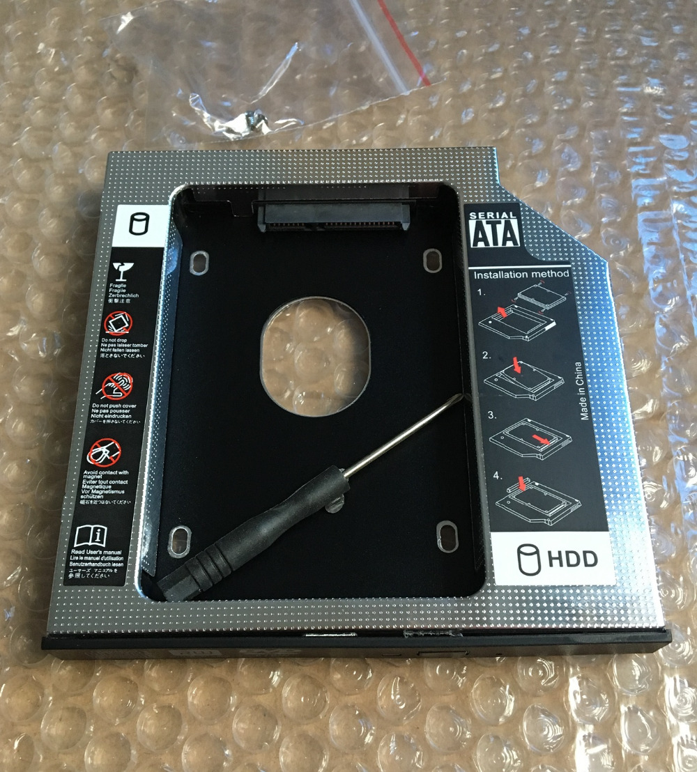 WZSM New 2nd HDD Caddy 12.7mm SATA 2.5'' SSD Hard Drive Case For Lenovo Y560 Y570 Y580 Y650 Y710 Y730