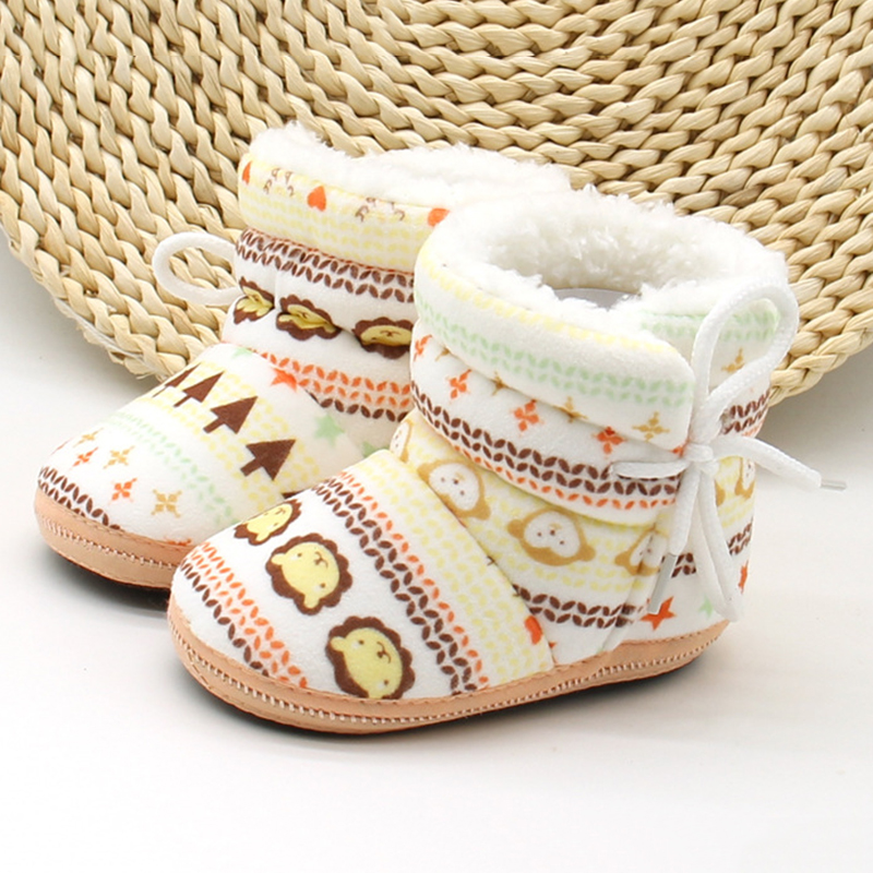 Warm Toddler Baby Boy Girl Snow Boots Infant Soft Sole Slipper Crib Shoes 6-12M