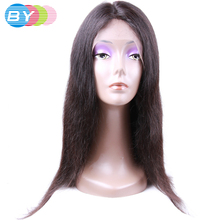 BY Virgin Human Hair Straight Hair Brazilian Lace Front Wigs Natural Color 10-24inch Human Hair Wigs For Black Women