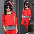 Spring autumn girls clothing set striped vest kids suit set casual 3pcs sport suit for girl tracksuit girls school suits 4-12Y