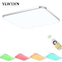 2017 Lustres De Sala Plate Led Ceiling Light 2 4g Rf Remote Group Controlled Dimmable Colorful
