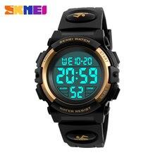 SKMEI цифровые светодио дный светодиодные детские часы водостойкие плавательные девочки мальчики часы спортивные часы модные студенческие наручные часы Новые