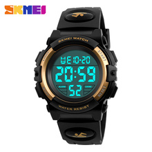 SKMEI Digital LED Children Watch Waterproof Swimming Girls Boys Clock Sports