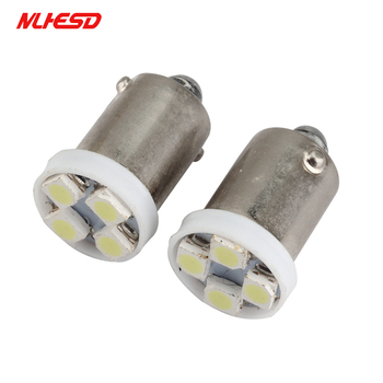 500pcs BA9S LED 4 SMD 3528 4 LED 1210 T4W 1895 T11 cold white Wedge Bulbs Dome Reading Light Map Indicator License Plate dc 24v