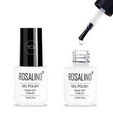 ROSALIND 7 мл длительное почти ароматное верхнее покрытие для маникюра, требуется УФ-светодиодный Гель-лак для ногтей, впитывающий гель для верхнего покрытия