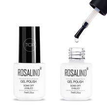 ROSALIND 7ML Long Lasting Almost Flavorless Top Coat Manicure Needed UV LED Nail Cured Gel Polish Soak Off Nail Gel For Top Coat(China)