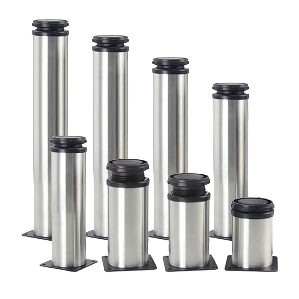 1PCS 50MM 350MM Furniture Adjustable Cabinet Legs Stainless Steel Furniture Legs Cabinet Table