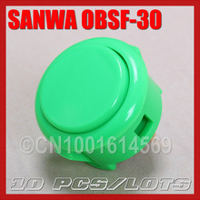 10pcs / set Original Japan Sanwa Buttons Arcade Push Buttons For Raspberry PI 1 2 3 Retropie 3B Project & PacMan Games – Green