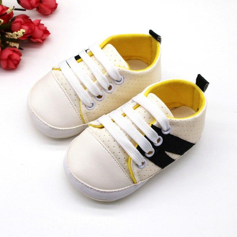 Babys garçon chaussures de Sport chaussures en polyuréthane enfant en bas âge baskets anti-dérapant bébé premiers marcheurs 0-18 mois anti-dérapant premiers marcheurs 0-18 M
