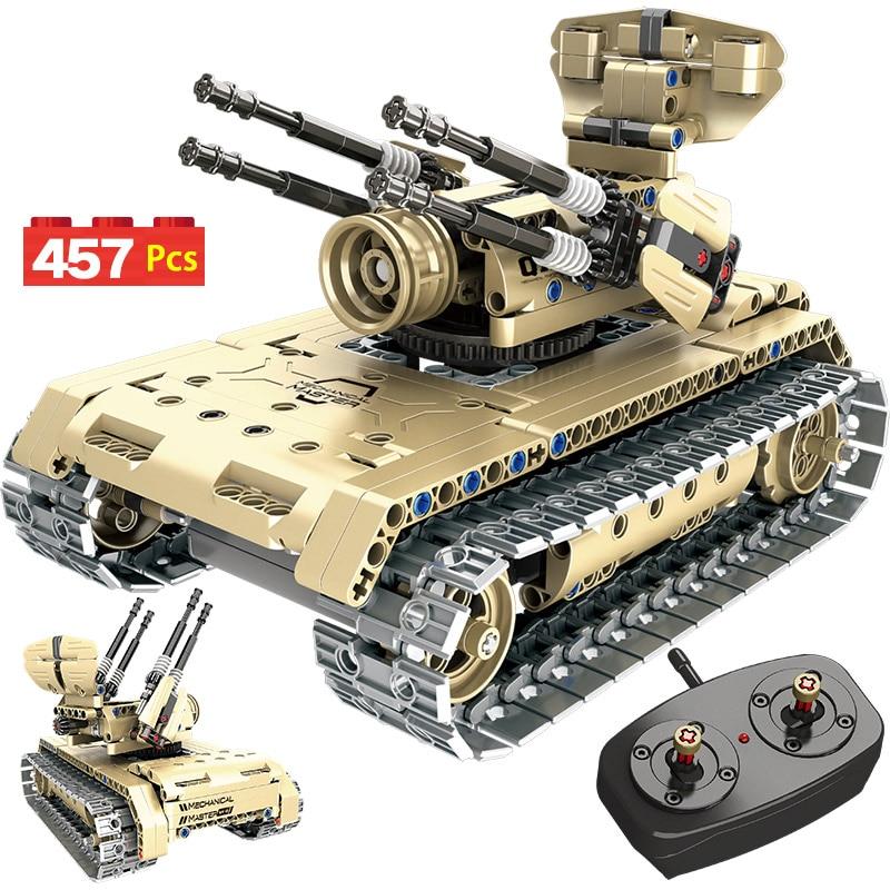 506 pièces RC Technique SUV Véhicule Bâtiment Blocs Legoingly WW2 Télécommande Bataille Réservoir Guerre Militaire Briques Jouets Pour Garçons