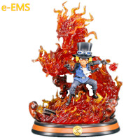 Anime ONE PIECE Revolutionary Army Chief Of Staff Sabo Flame Claw Resin Statue Action Figure Collection Model Toy G2579
