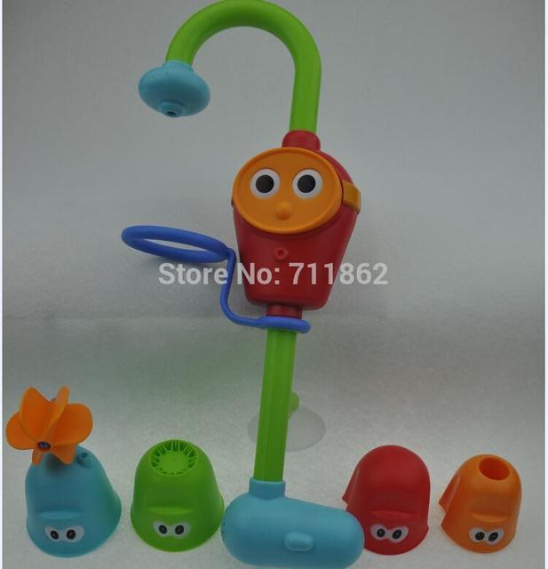 Pulverização de água do banho do bebê jogar torneiras sustentada chuveiro spray música brinquedos eletrônicos
