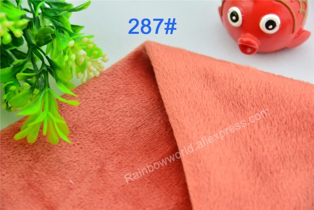 287 # orange rot mikrofaser minky soft velboa tricot Fleecestoff für ...