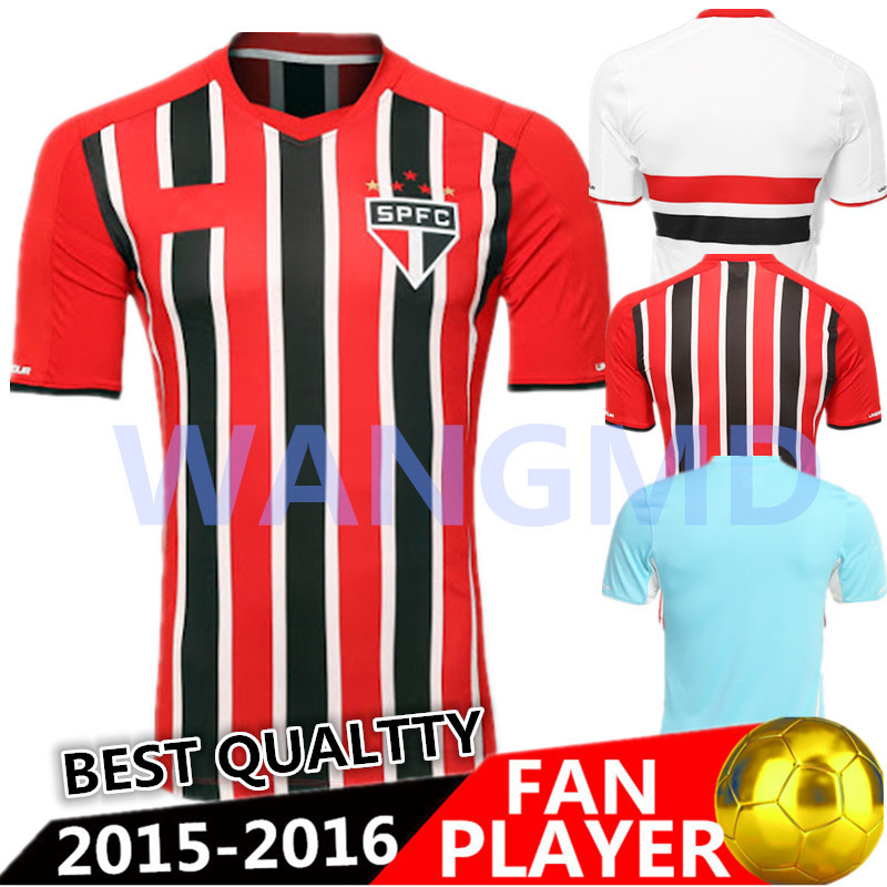 2016 Sao Paulo 2017 Home Soccer Jerseys Chandal Away Goalkeeper Kit Jersey 15 16 Futbol Shirt Custom Best Thai Pato In From Sports