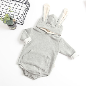 Image 5 - MILANCEL New Baby Clothing Rabbit Baby Bodysuits Bunny Ear Infant Outfit Cotton Boys Bodysuit Long Sleeve Baby Clothes
