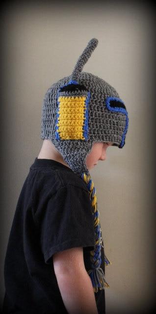 Starwars Boba Fett Inspired Crochet Helmet Hat Crochet Star Wars Hat