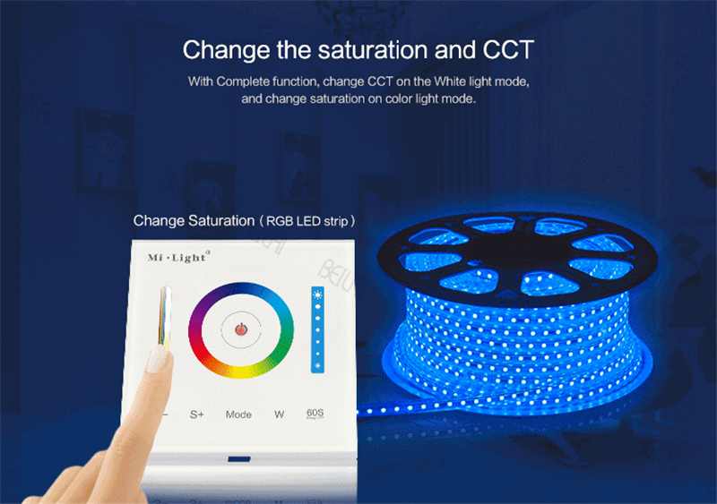цена на Mi Light 12V-24V Smart Panel Touch Controller Dimmer Color Temperature RGB / RGBW / RGB+CCT for led strip bulbs P3