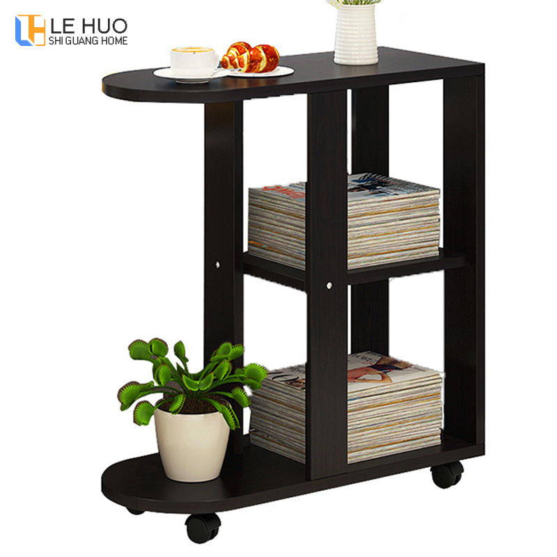 Sofa Side Table Movable Coffee Table Simple Small Table Living Room Sofa Side Cabinet Creative Tea Table Home Furniture|Coffee Tables| |  -