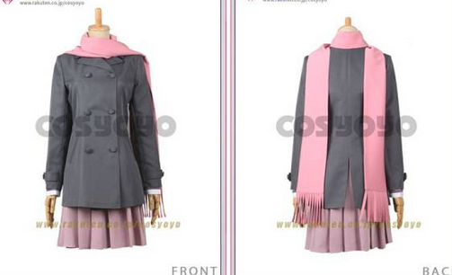 Noragami Hiyori Iki Cosplay Costume female japanese uniform with Tail