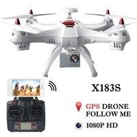 Drone X183 профессиональный двойной gps Follow Me Квадрокоптер с Камера HD RTF FPV gps вертолет Quadcopter VS X8PRO